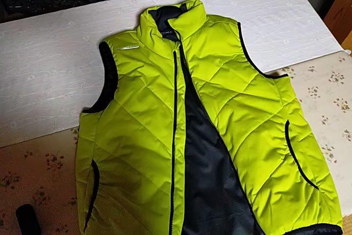 ワークマンの冬の袖なしベスト。見た目はこんな